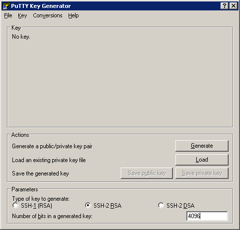 generate key file with the keygen